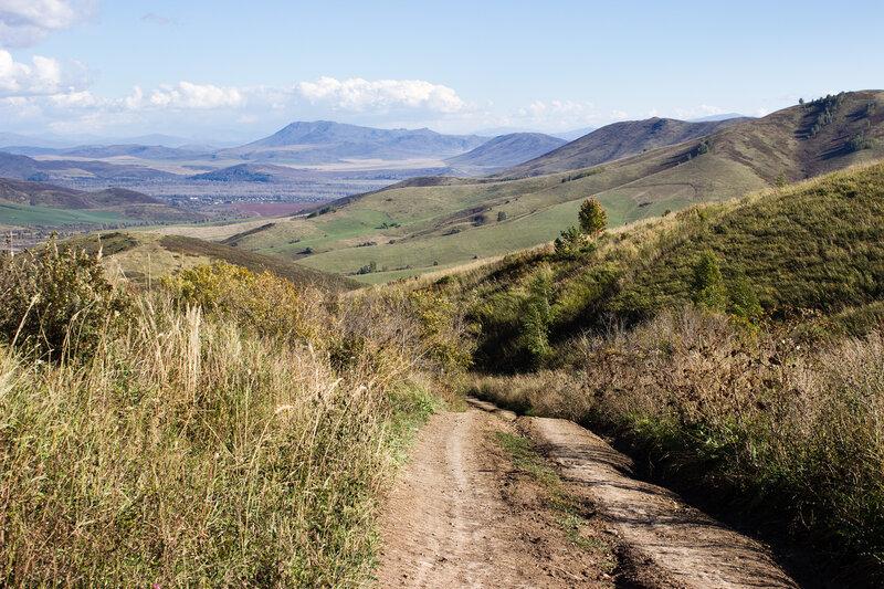 дорога из Тургусуна в горы