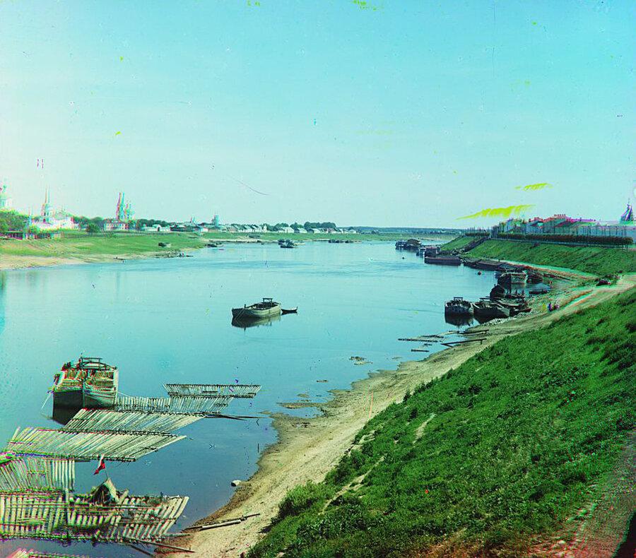 Вид с правого берега Волги. Лето 1910 года