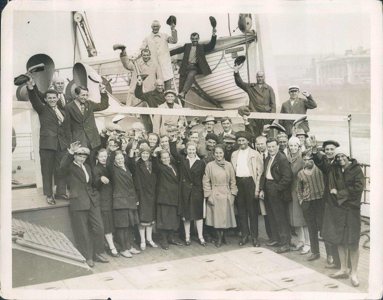 1931. 10 августа. Советские туристы в Лондоне