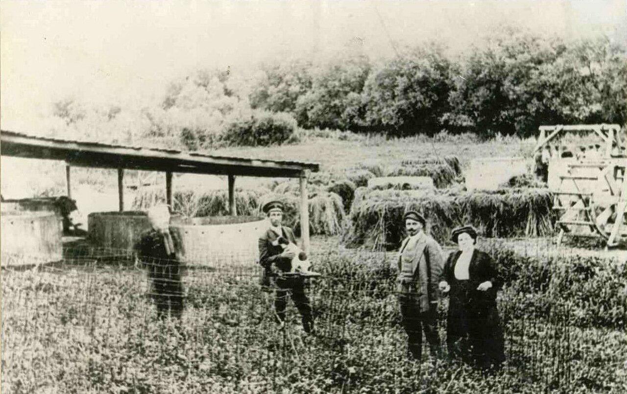 Строительство водозабора. 1906.
