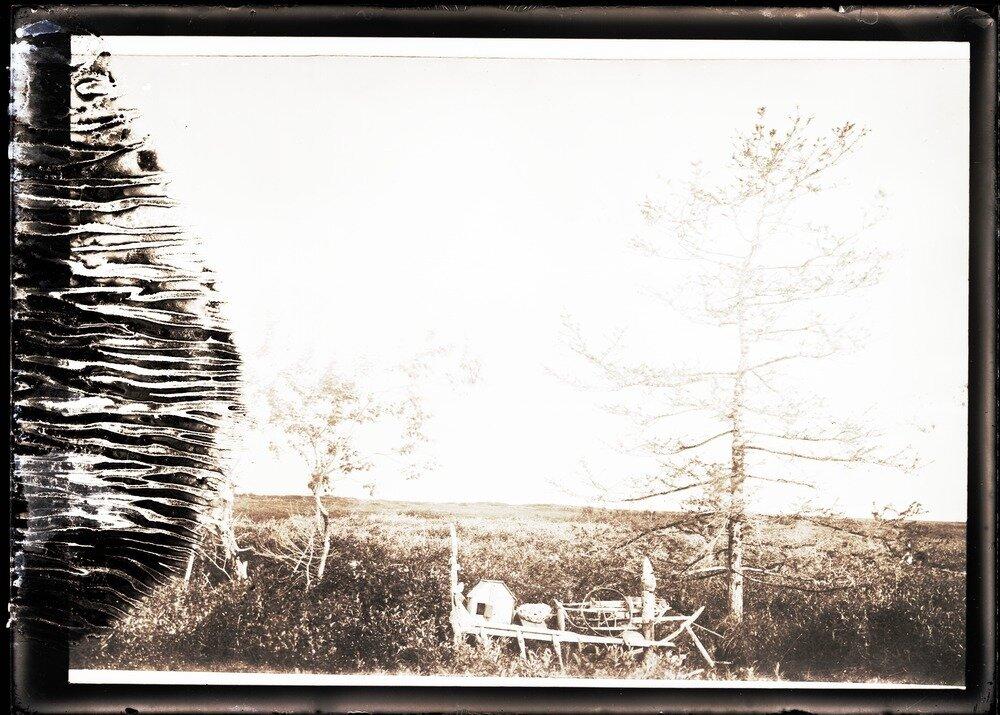 1912. Река Вах. Священное место самоедов