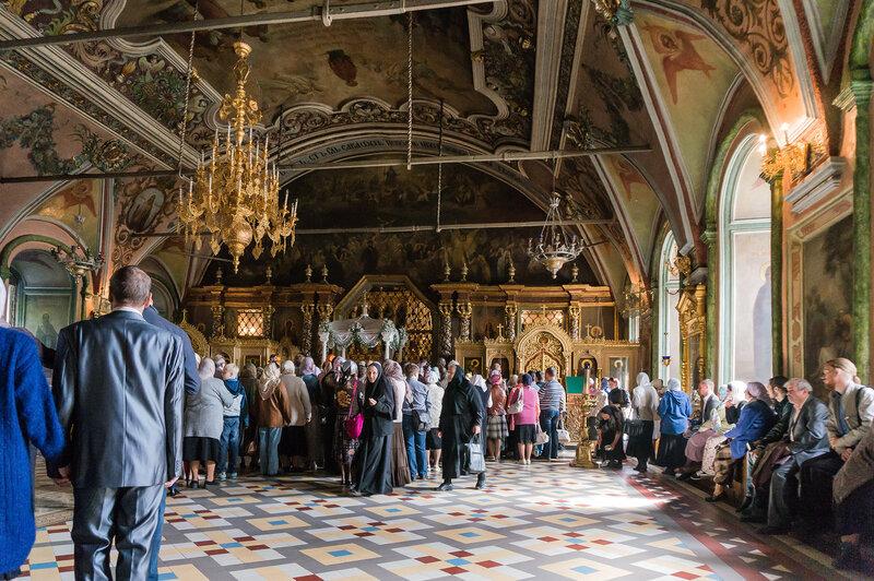 Служба Успение Пресвятой Богородицы в Церкви преподобного Сергия с Трапезной палатой