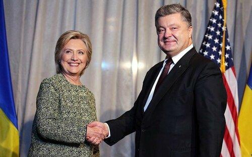 Cостоялась встреча кандидата в президенты США Хиллари Клинтон и президента Украины Петра Порошенко