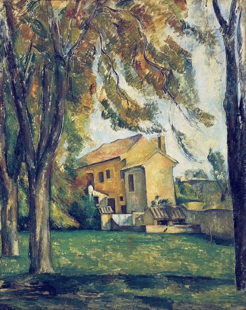 Chestnut Trees and  Farmhouse at Jas de Bouffan, 1884-85.jpg