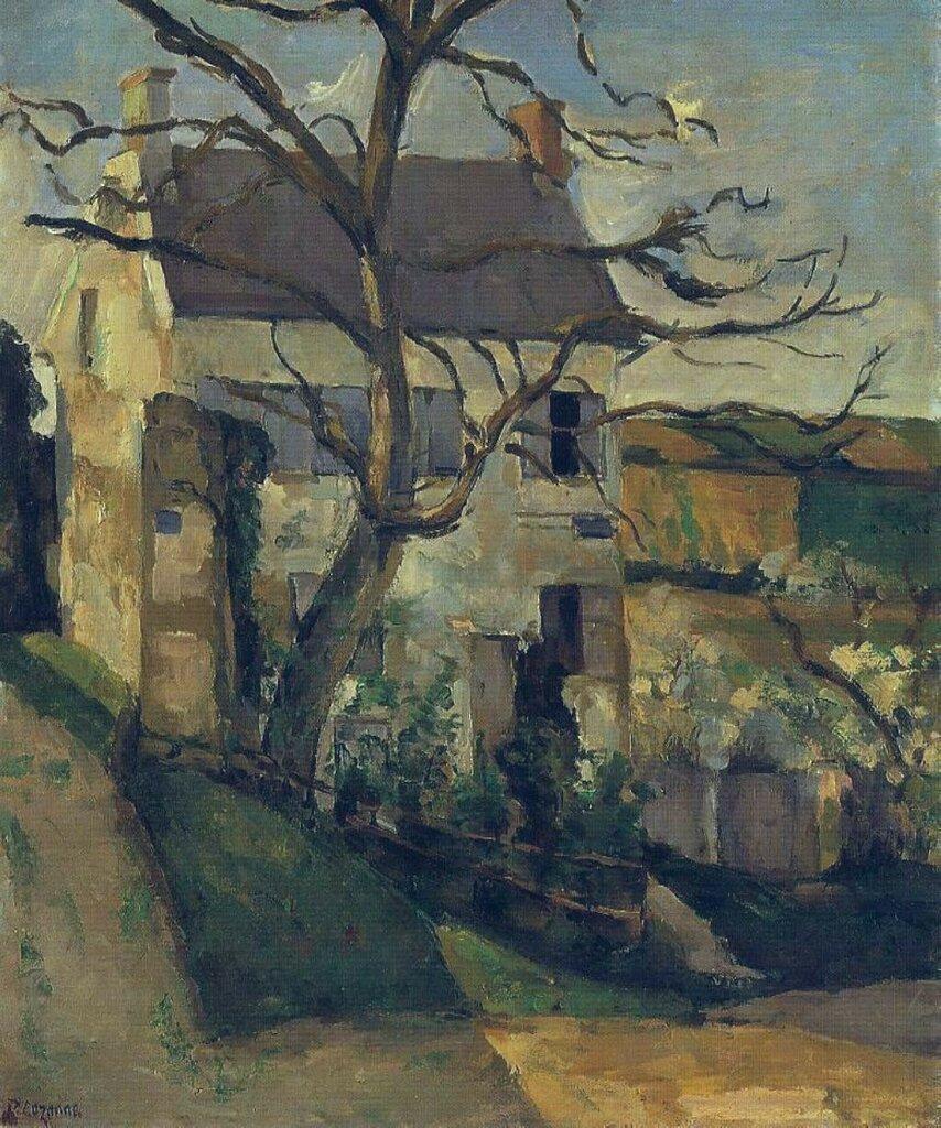 House and Tree, the Hermitage, Pontoise, 1873-74.jpeg