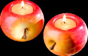 яблоки свечки