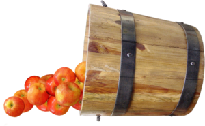 яблоки в кадушке