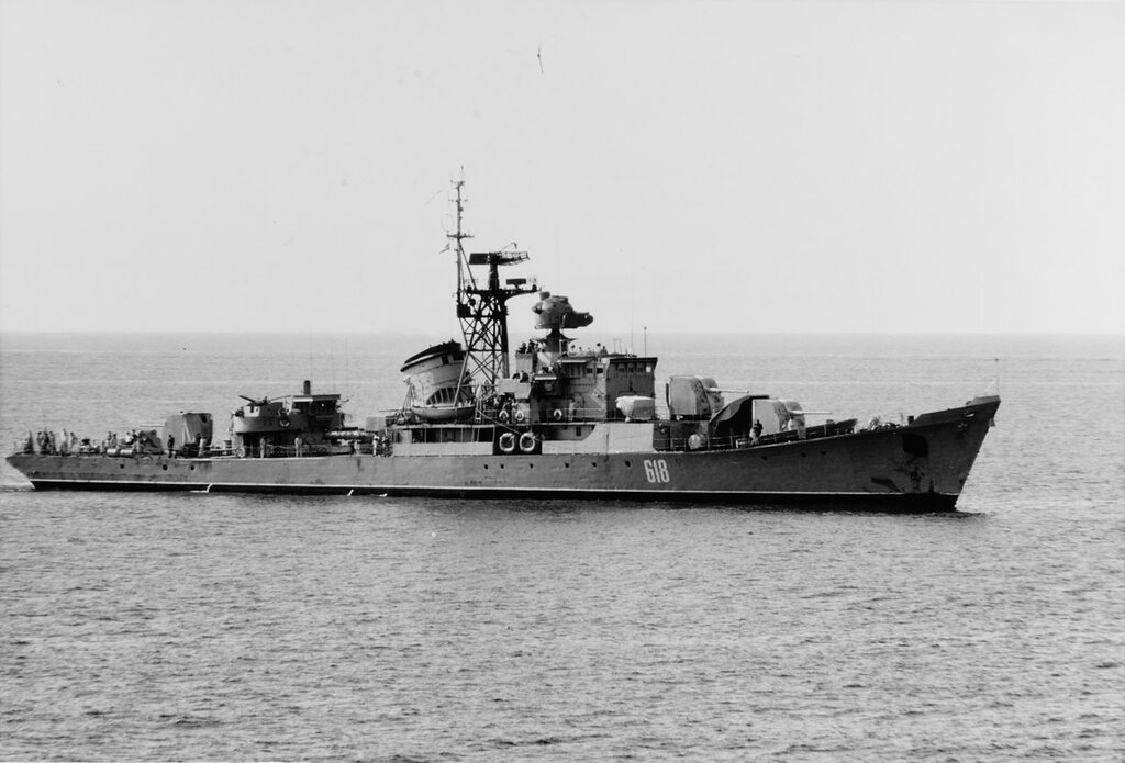 RIGA Class. Soviet Escort Ship in the Mediterranean Sea, April 1969.