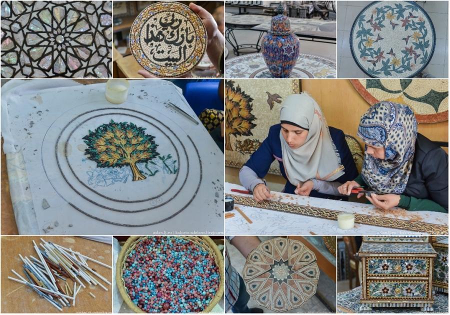 Как собирают мозаику в Иордании (48 фото)