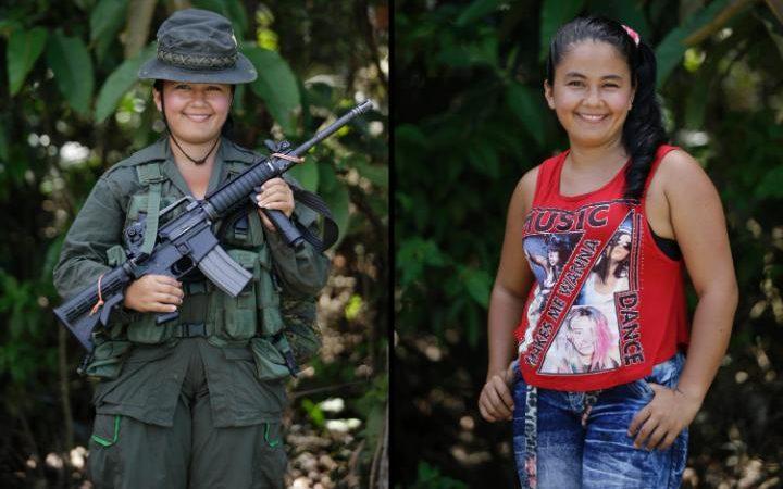 18-летняя Рентерия служит четыре года. Хочет стать инженером. Последний раз фотограф Фернандо Вергар