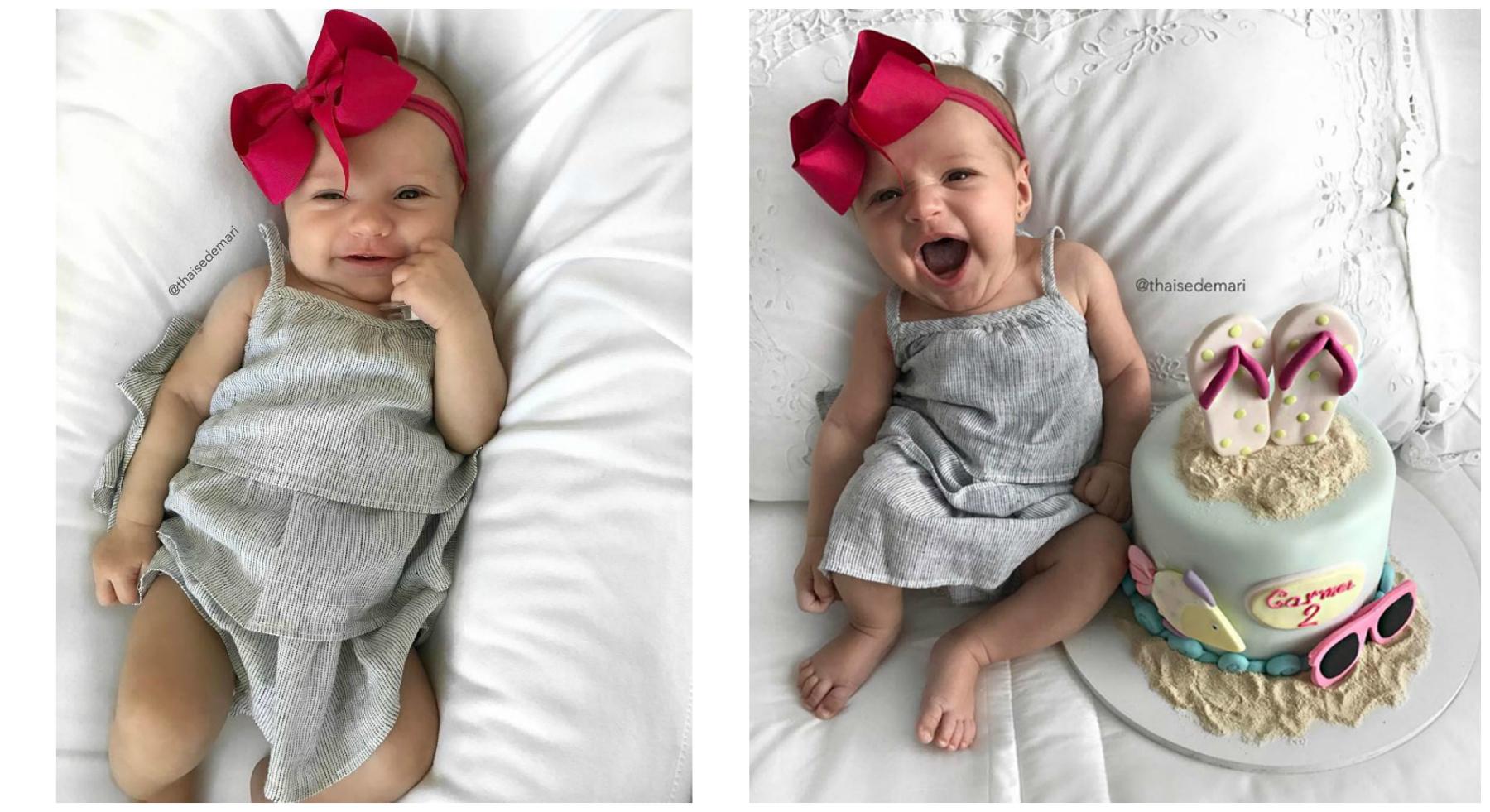 Сейчас крошке всего несколько месяцев, но, похоже, ее популярность в модных блогах и социальных сетя