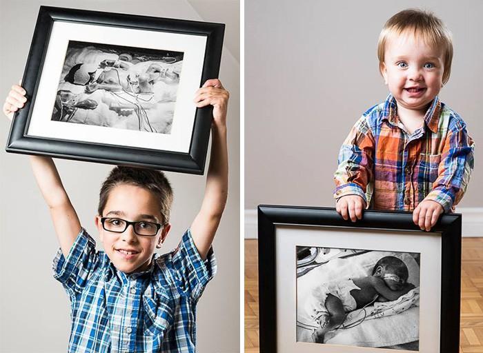 14. Феликс, родился на 23-й неделе, и его брат Алексис, родился на 33-й неделе.