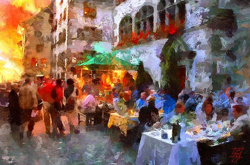 Работы болгарского художника Цвиатко Кинчева в стиле импрессионизма — это цифровая живопись: они вып