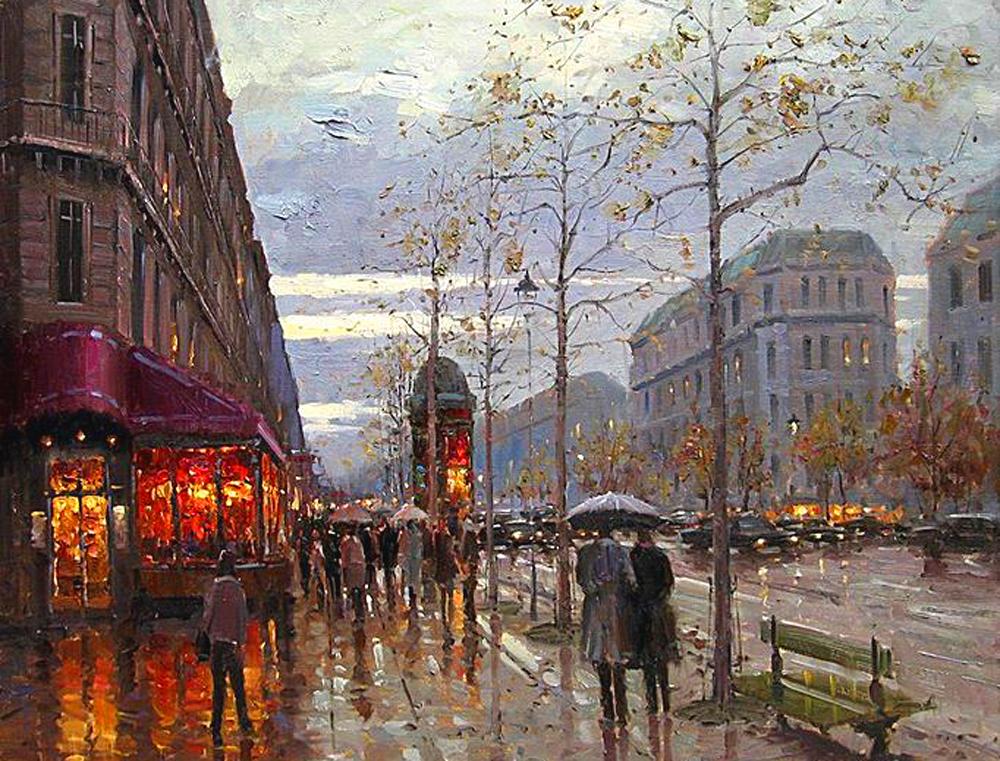 Эжен Джей Папроски родился в Чикаго. Большинство картин импрессиониста написаны на пленэре. Он любит