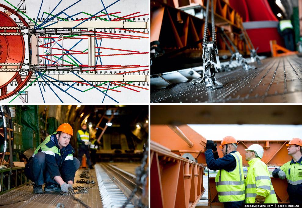 19. Система для погрузки грузов массой до 120 тонн состоит из эстакады, рельсовой системы и ход