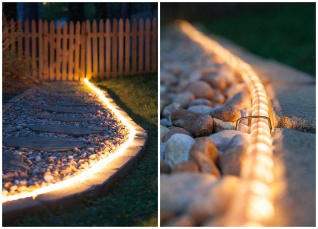 Сзадачей подсветки дорожки чудесно справится светодиодная лента .