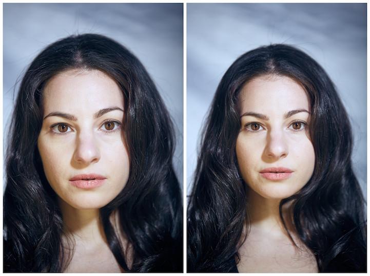 Хотя на снимках не видно обнаженных тел героев фотопроекта, можно заметить разницу между выражениями