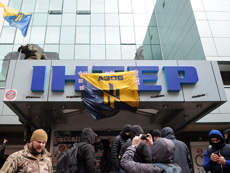Руководитель МВД Украины выдвинул версию осамоподжоге офиса канала «Интер»