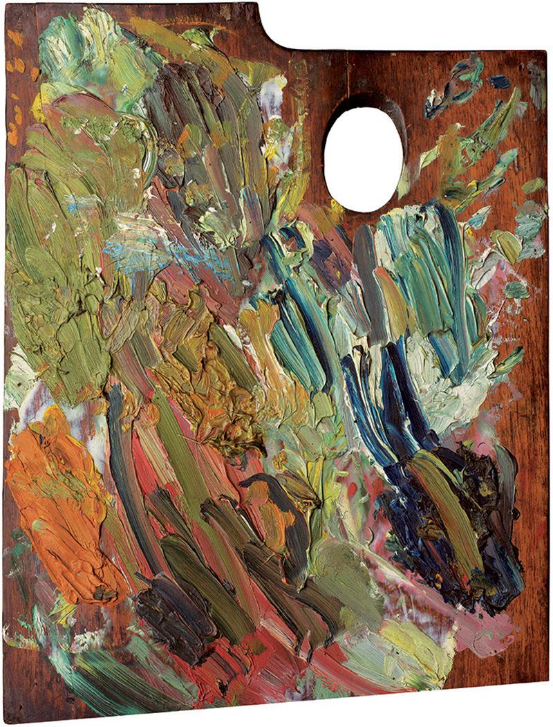 Palette of Vincent van Gogh, 2007, 190x156cm, Copyright: Matthias Schaller,Musee d'Orsay, Paris;