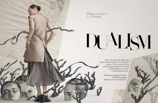 Dualism story captured for Indonesian Harper's Bazaar Art 's latest edition by fashion photogr