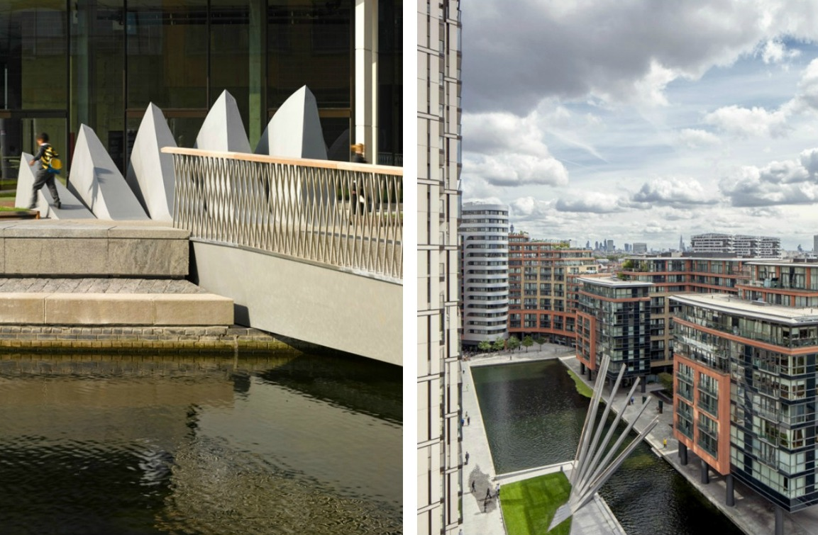 Movable Footbridge in Paddington, London Opens and Closes Like a Fan