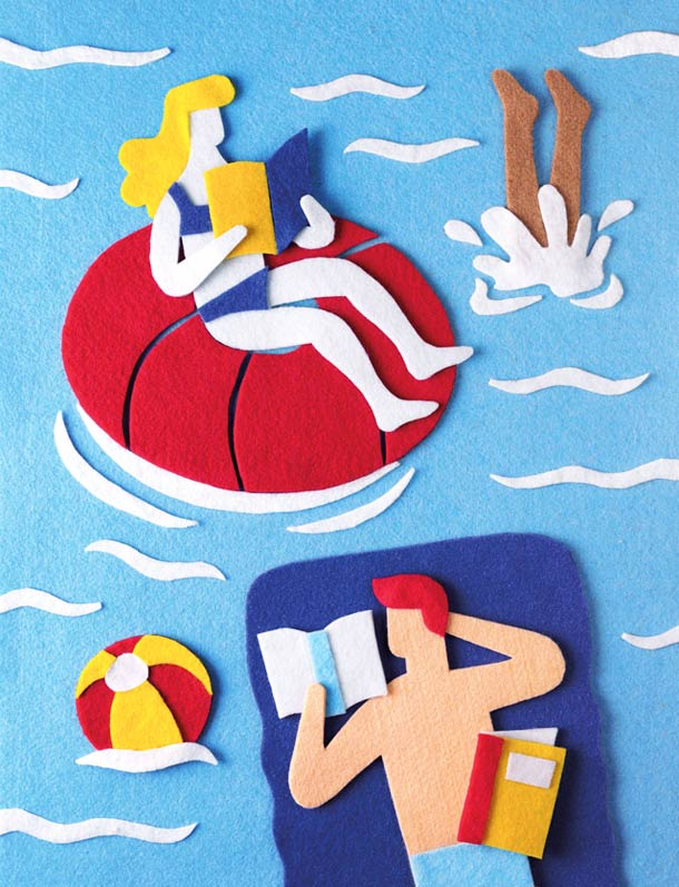 25 illustrations en feutrine de Jacopo Rosati !