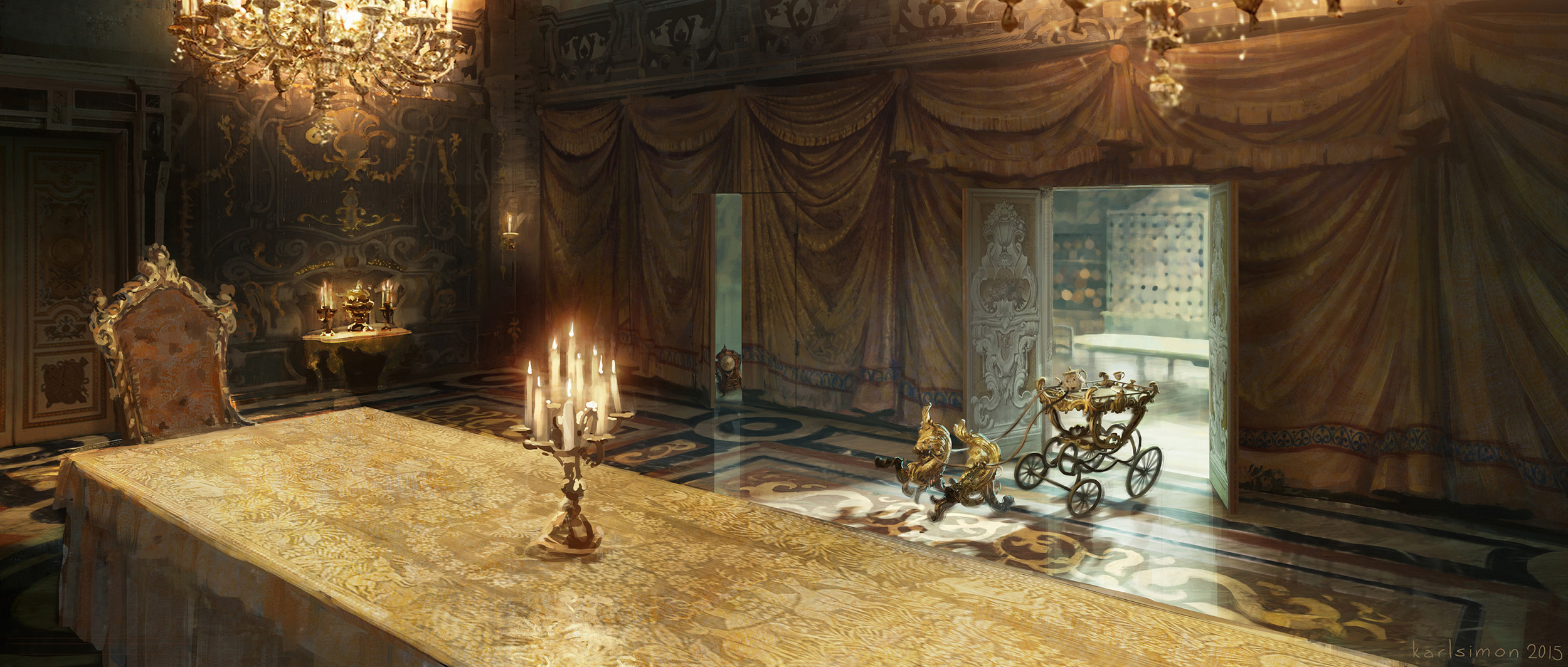 Beauty and the Beast Concept Art by Karl Simon