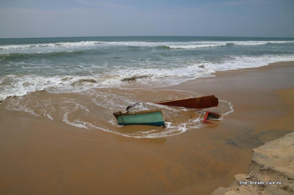Остатки караблекрушения на Южном пляже