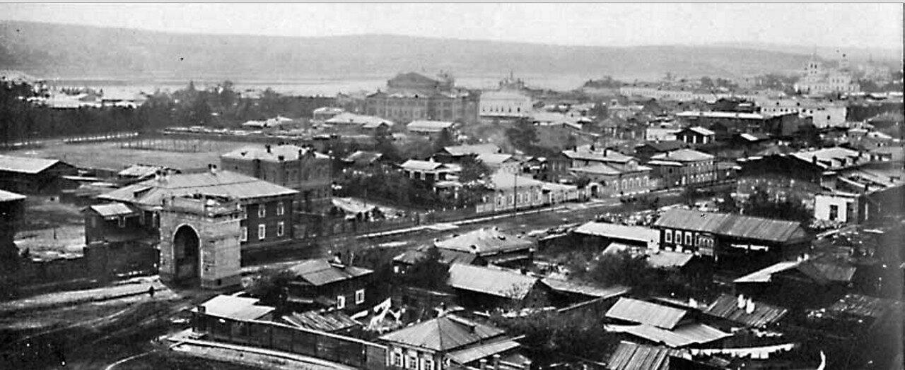 53. Панораме города Иркутска (левая часть)