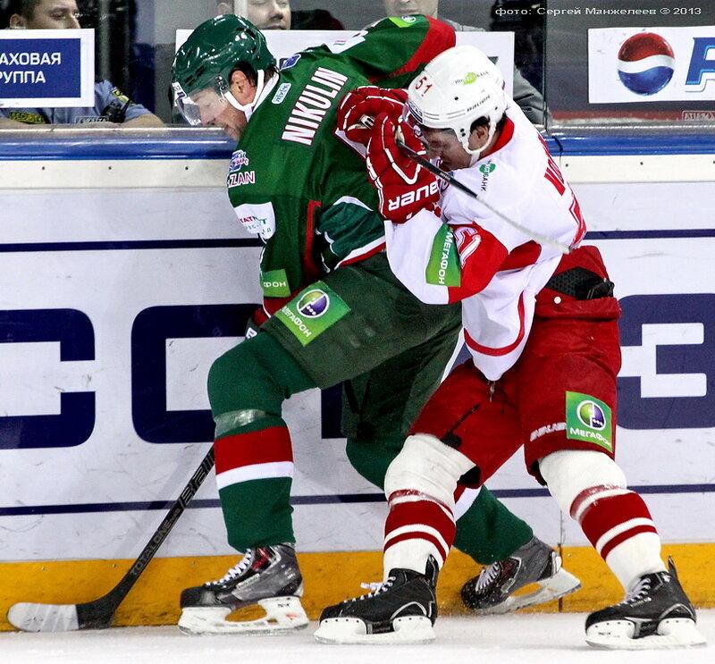 «Ак Барс» vs «Спартак» 2:0 чемпионат КХЛ 2013-2014 (Фото)