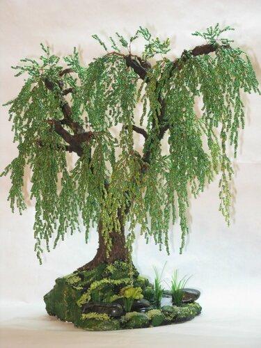 Ива дерево из бисера своими руками