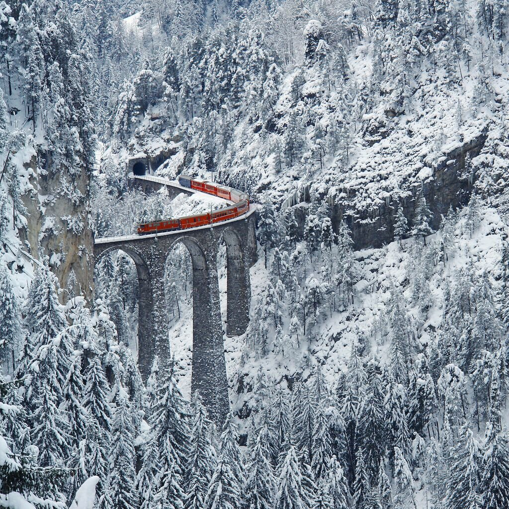 Виадук Ландвассер (Landwasser Viaduct, Graubünden, Switzerland).
