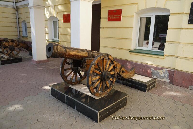 Пушки, Бывшая гауптвахта (1781 г.), военкомат Омской области