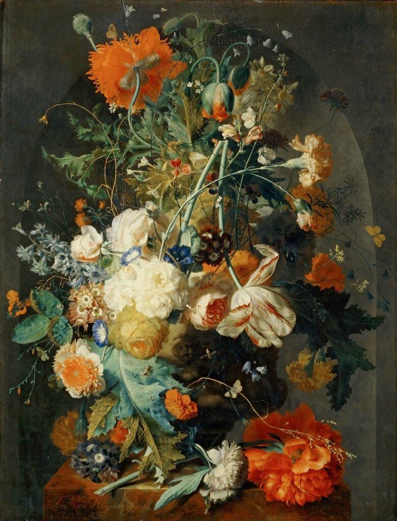 Хейсум, Ян ван (Амстердам 1682-1749) -- Ваза с цветами в нище