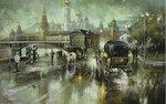 Вид на Кремль со стороны Замоскворечкого моста х.м.50-80 2012.JPG