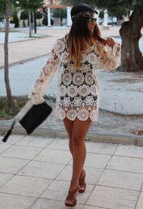 Тонкие фактуры-нежные ажуры.Туника от Zara & платье от Oasis