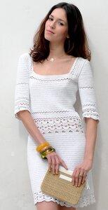 Лаконичность из Франции - платье Phildar крючком