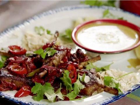Баранина с рисом и соусом