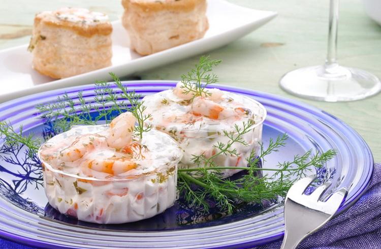 Морепродукты под сливочным соусом