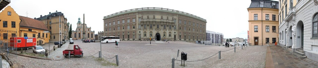 Stockholm, Palace hill, the Royal Palace, panorama