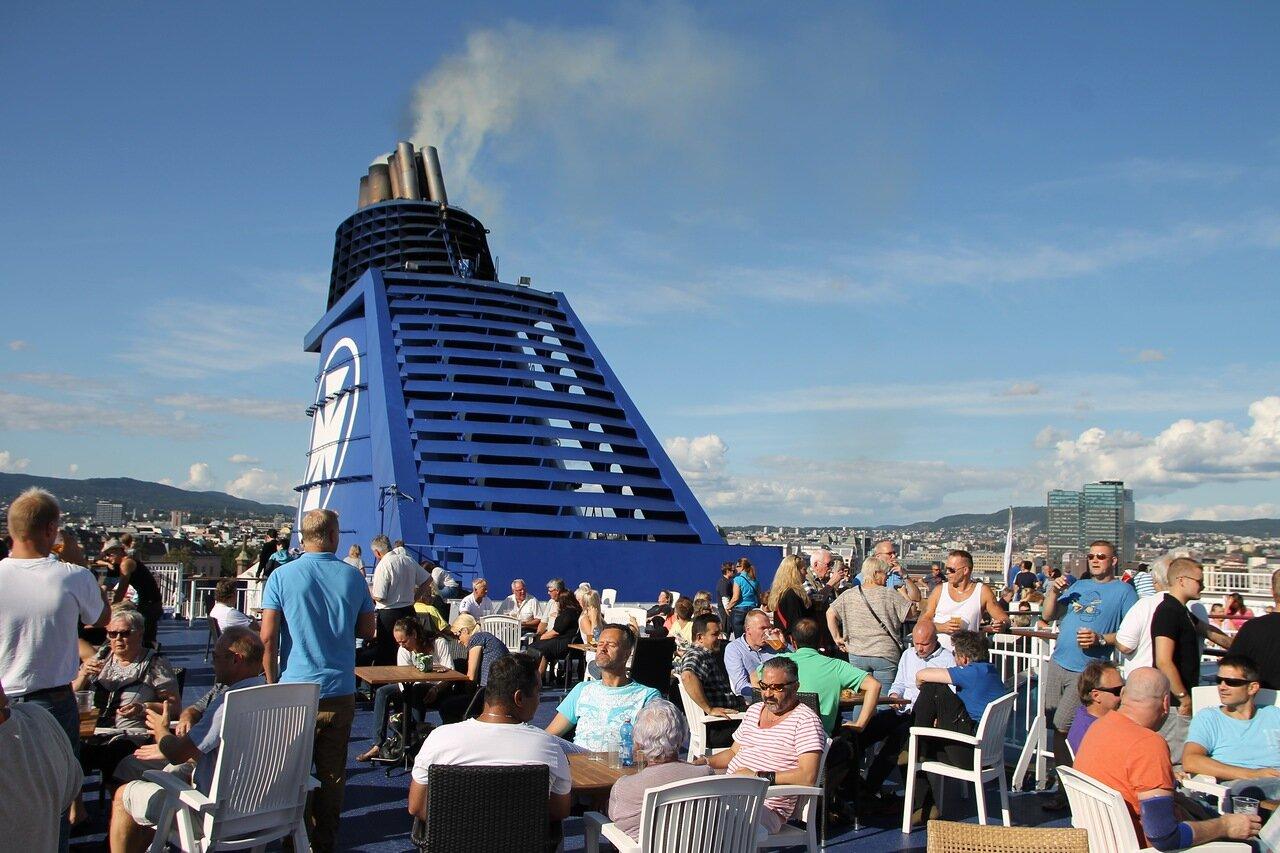 Oslo. паром DFDS Crown Seaways ferry