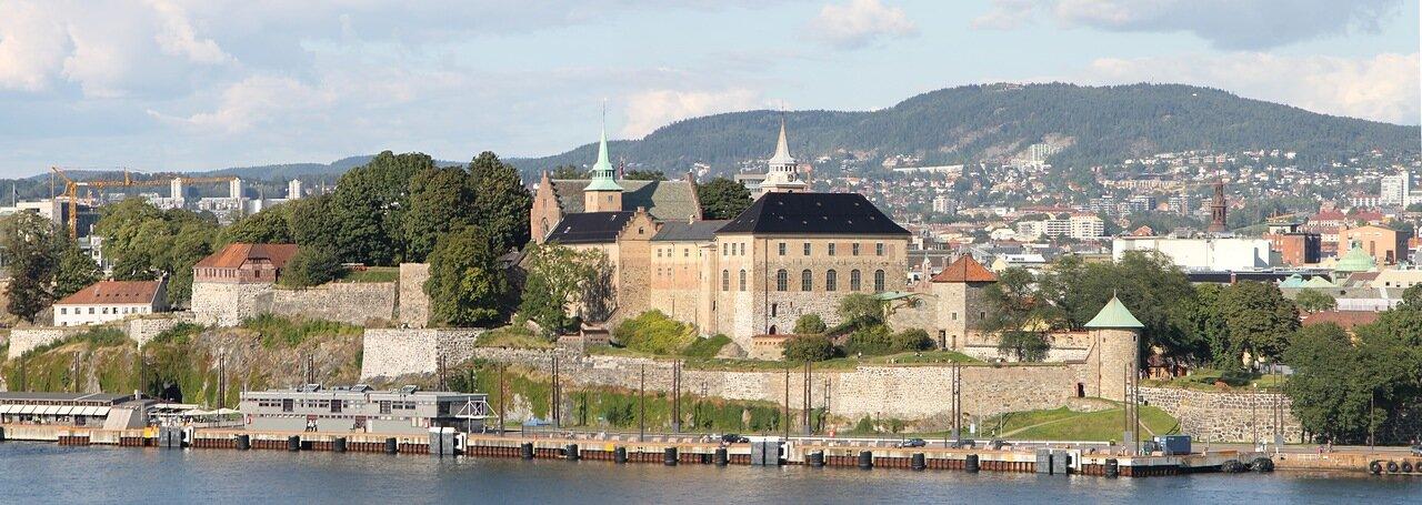 Oslo. Осло. panorama, крепость Акерсхус, Akershus Festning, Akershus slott