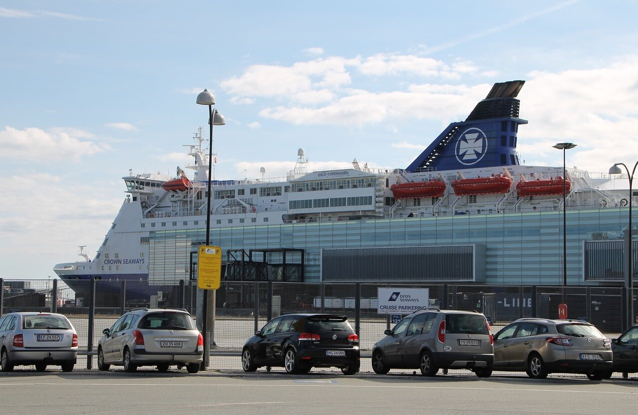 порт Копенгаген, Port Copenhagen, DFDS terminal,  Crown Seaways ferry