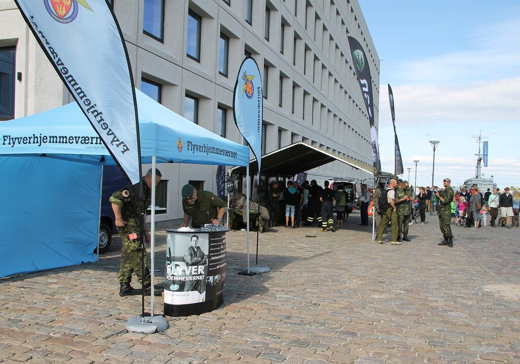 Copenhagen. Exhibition of the National guard Flyverhjemmeværnet