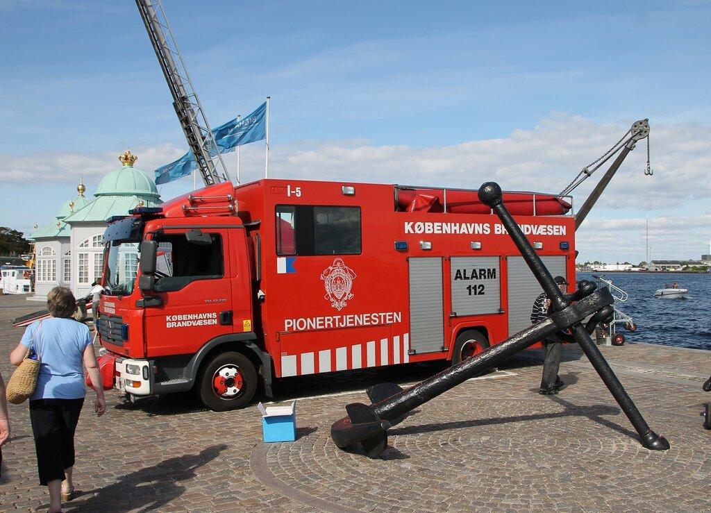 Копенгаген. Выставка пожарной техники. Københavns Brandvæsen. Copenhagen, Exhibition of fire technics.