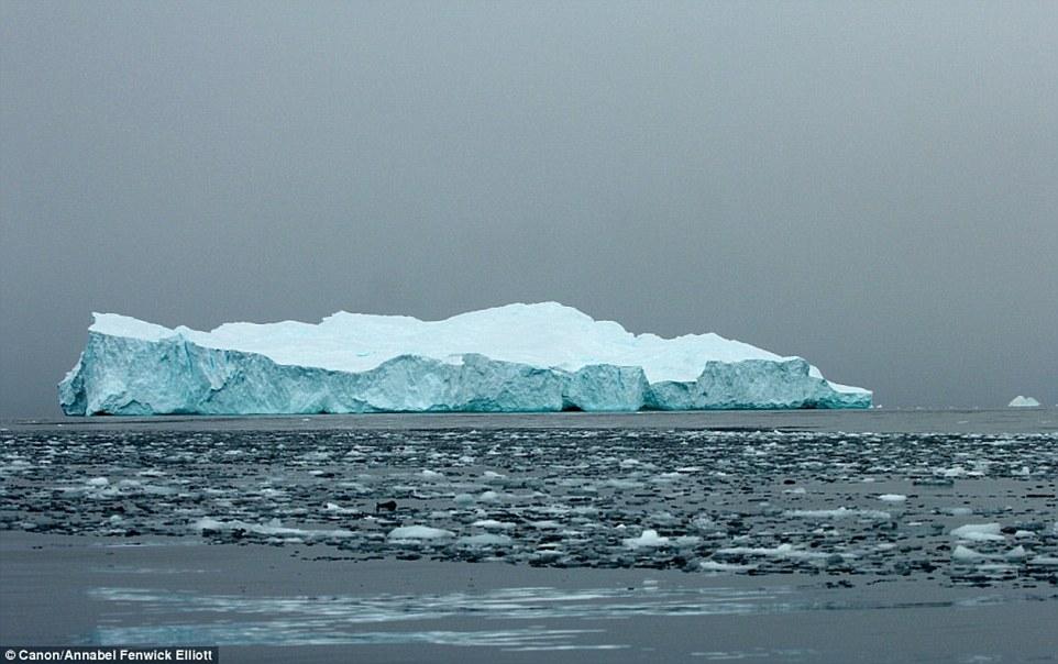 Крупные айсберги содержат много наносов и минералов, принесенных ветром, которые выглядят как слои,