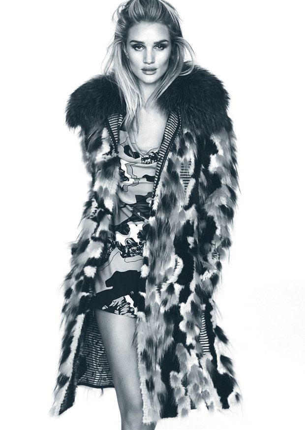 Rosie Huntington-Whiteley Stars in Elle Brazil September 2016 Cover Story