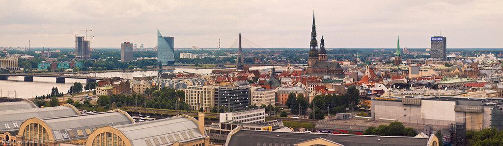 Рига, Латвия, панорама Риги, Академия наук Латвии