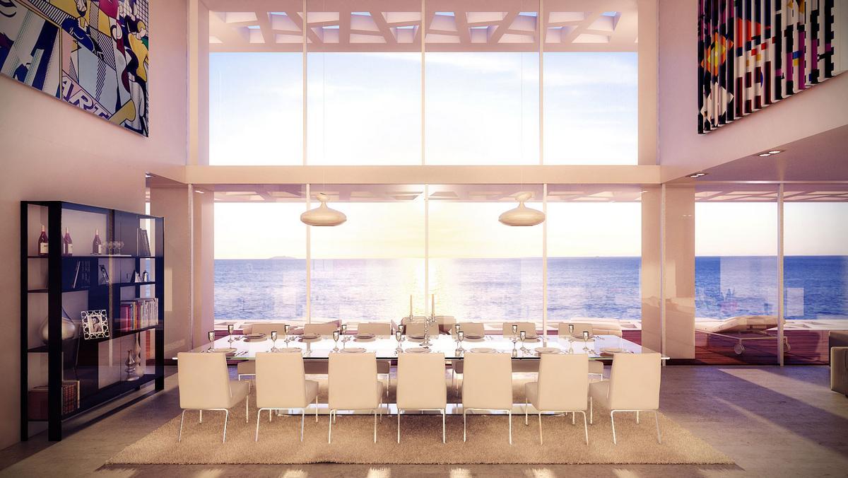 Studio Aristo, резиденция Cliffside, Gottesman-Szmelcman Architects, треугольный частный дом, дом с видом на океан, дом на берегу Средиземного моря