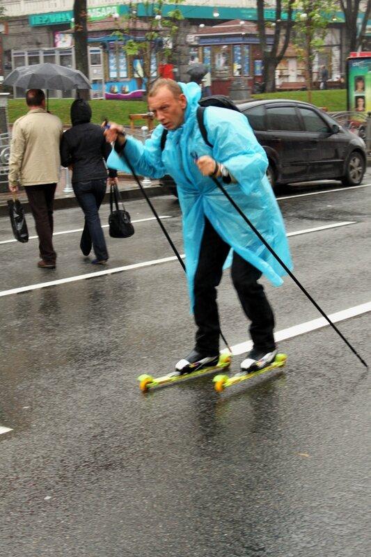 Лыжник на Крещатике